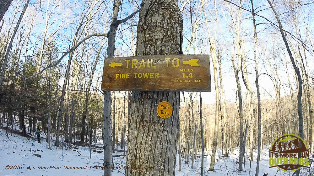DEC Signage found just after the trail register. A lovely hike! Red Hill: Our First of 23 Winter Fire Tower Challenge Hikes, Catskills, NY