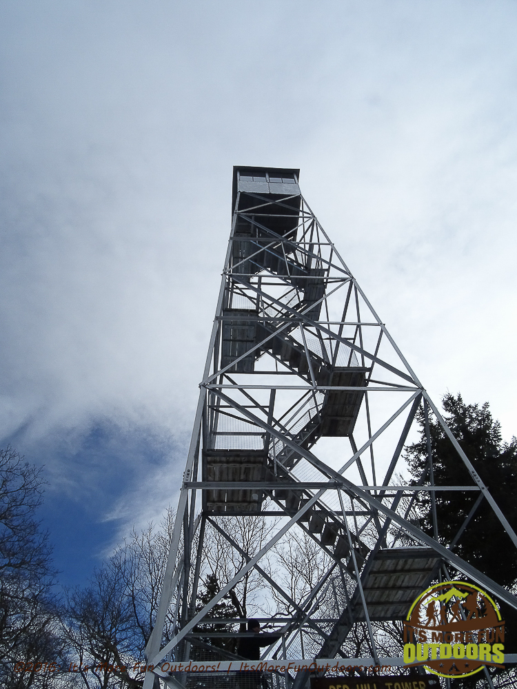 The Red Hill fire tower - probably the nicest tower I have climbed! Red Hill Fire Tower in the Catskill Mountains: Our First Winter Fire Tower Challenge Hike!
