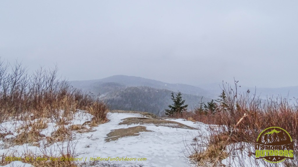 No views of the lake today! February 5, 2016 Black Mountain: My First SOLO Winter Fire Tower Challenge Hike!