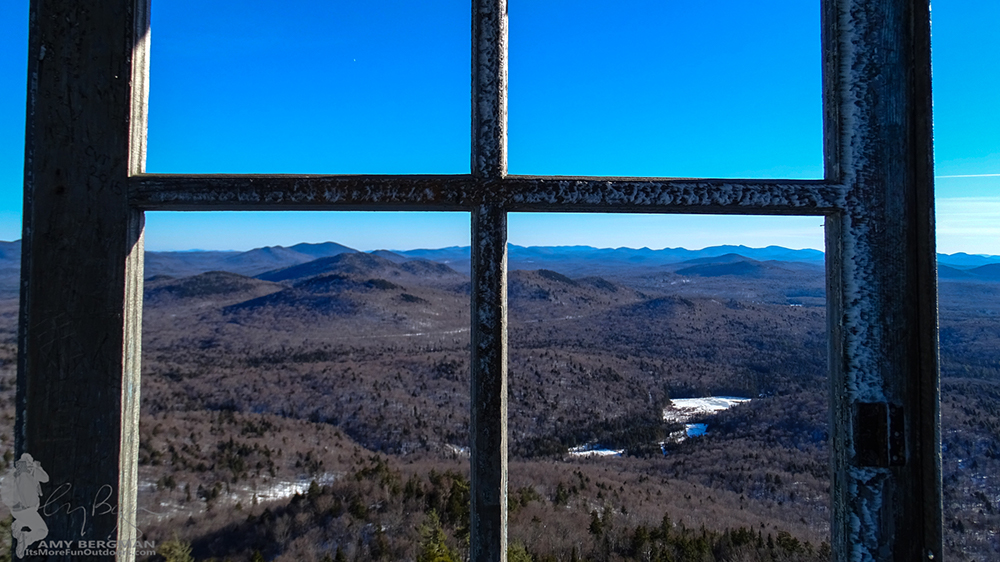 View from the Goodnow Fire Tower! 2/22/16: Goodnow Mt Winter Fire Tower Challenge Hike with VIDEO!