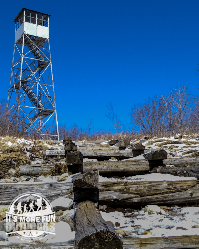 The summit of Azure is very scenic, thanks to the hard work of the Azure Mountain Friends! 3/19/2016: Winter hike-Azure Mountain Fire Tower, Debar Mountain Wild Forest, Adirondacks