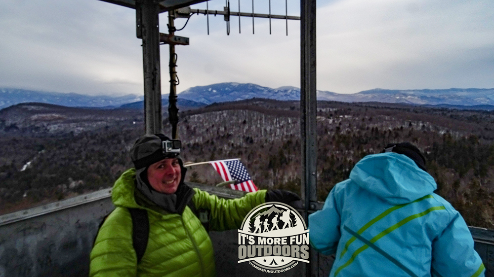 Incredible views of the Adirondack Mountains from Belfry's Tower! 2/15/2016: Belfry Mountain Winter Fire Tower Challenge Hike!