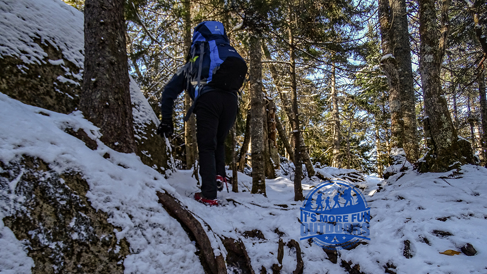 There are rocky scrambles all along the trail that may be a bit too much for really little ones. 3/5/2017: Bald (Rondaxe) Mountain Winter Fire Tower Challenge Hike!