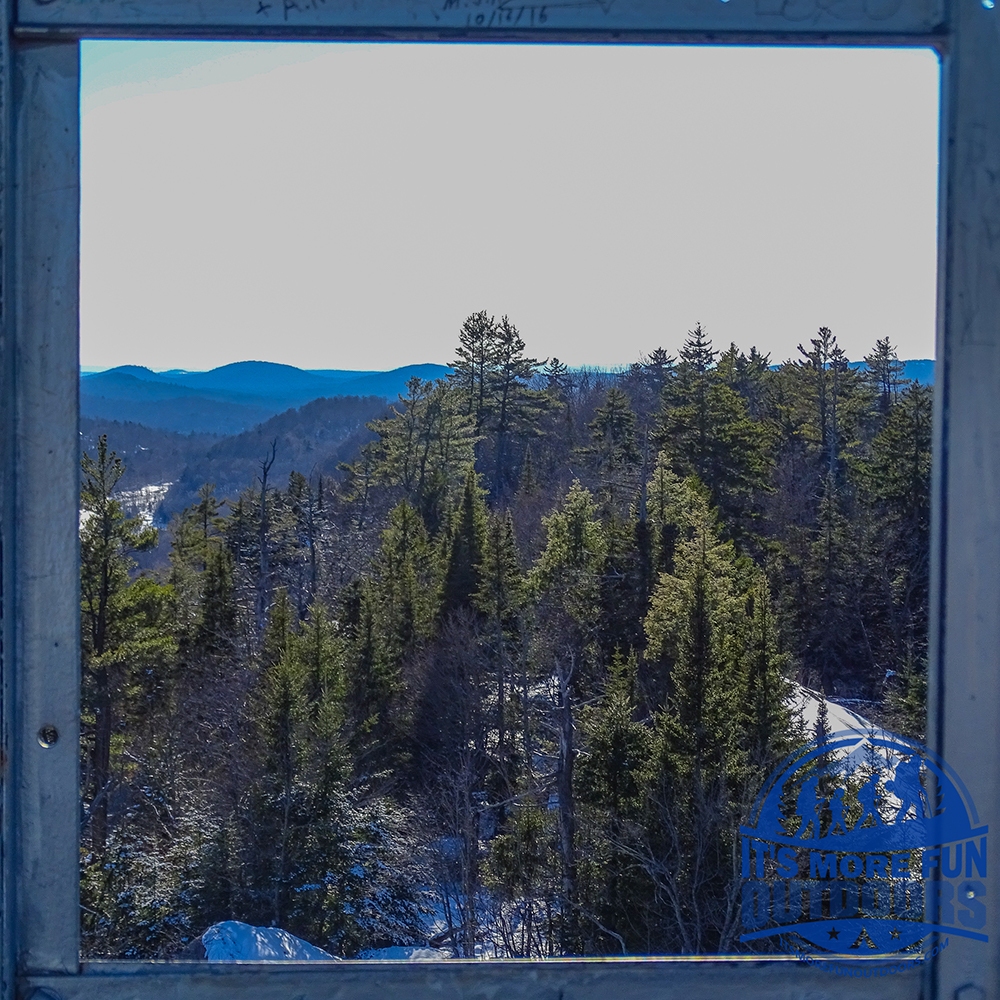 Window on the Wilderness. From the Fire Tower! 3/5/2017: Bald (Rondaxe) Mountain Winter Fire Tower Challenge Hike!