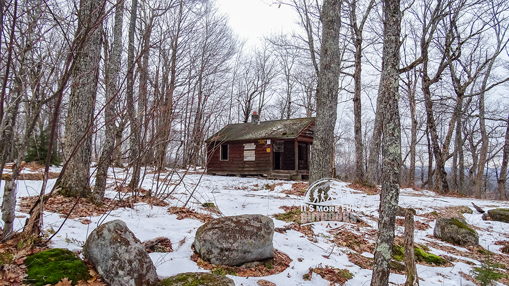 The Ranger cabin on the summit of Kane Mountain! 2/6/2016: Kane Mountain Winter Fire Tower Challenge Hike!