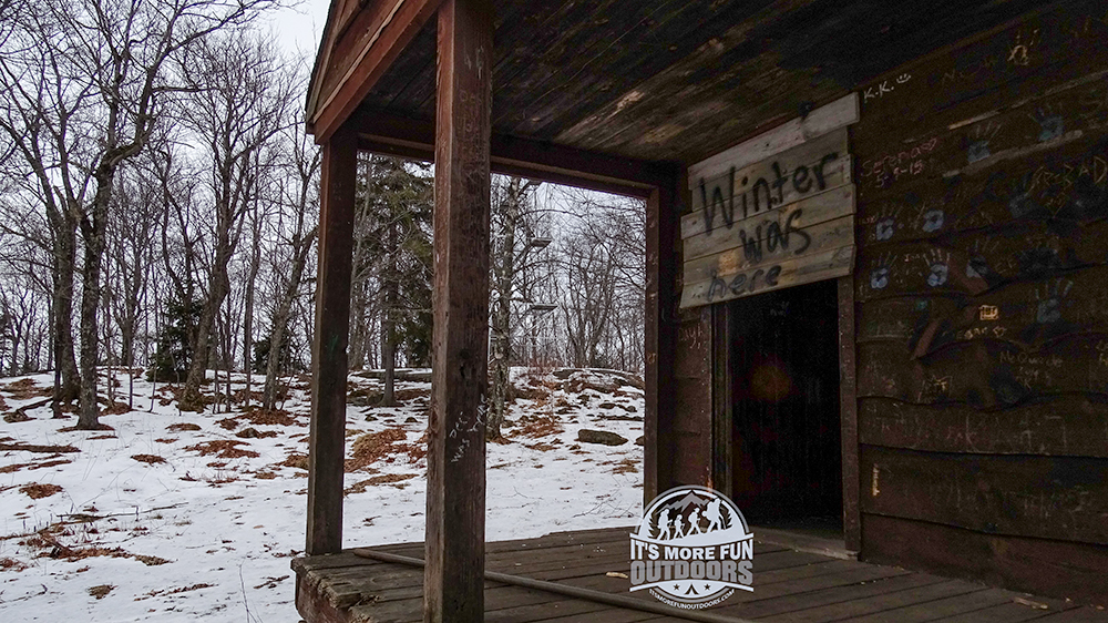 The Ranger cabin needs some serious TLC....and it looks like a few people need to be taught respect. 2/6/2016: Kane Mountain Winter Fire Tower Challenge Hike!