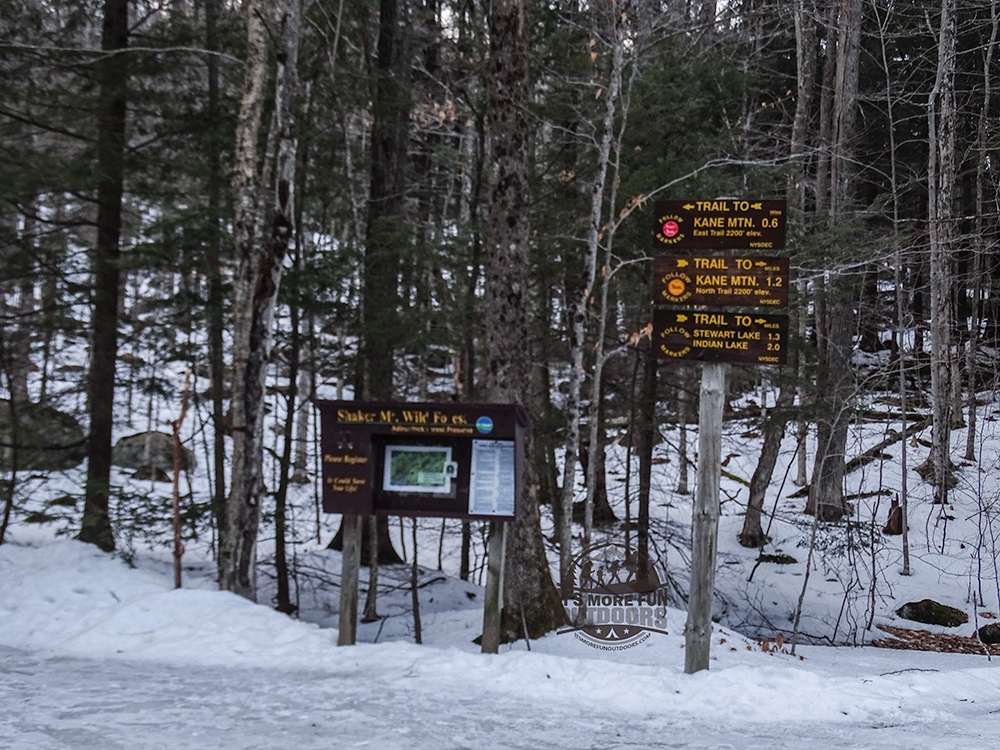 The newer trailhead and much better parking situation. 2/6/2016: Kane Mountain Winter Fire Tower Challenge hike!