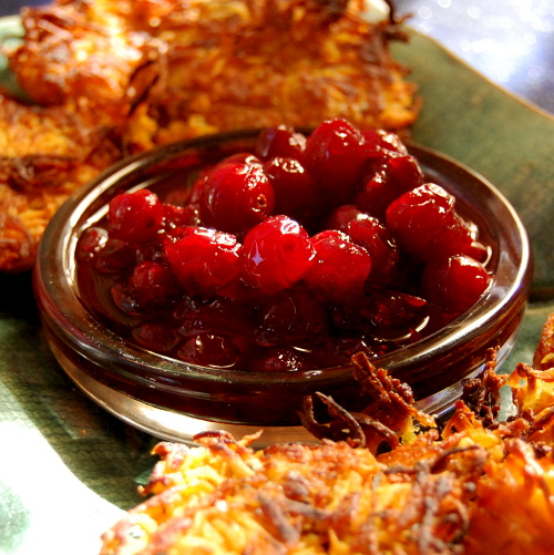 Cranberries with Red Wine