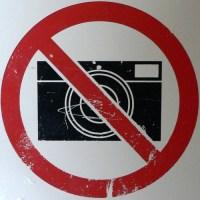 No cameras please. Remove all cameras.
