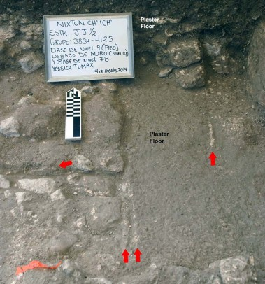 Micro-stratigraphy of a Preclassic Construction