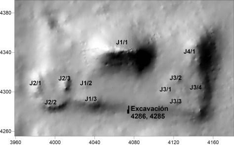 Excavation 4286, 4285, Sector J