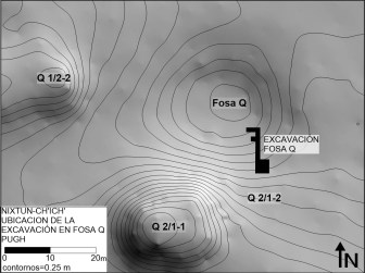 Location of the Excavations in Fosa Q