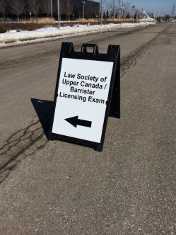 Law Society of Upper Canada Barrister Exam Sign