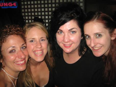 "Jenn Dodd (Live Producer and Host), Annie Solstad (3rd Wheel), Sharon ""Mama"" Spell (Stand up), and Sharon Jamilkowski (Producer and Tech) at the Live show on July 24th, 2010."