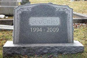 Geocities SK ham radio pages lost