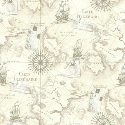 Arthouse Navigator Cartography Vintage Nautical Map Wallpaper 622003