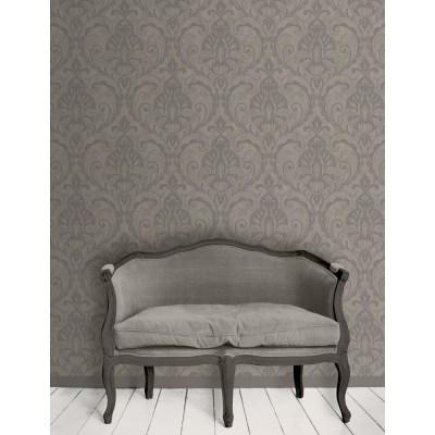 Direct Damask Pattern Glitter Motif Textured Vinyl Suede Wallpaper 575008 - Grey   I Want Wallpaper