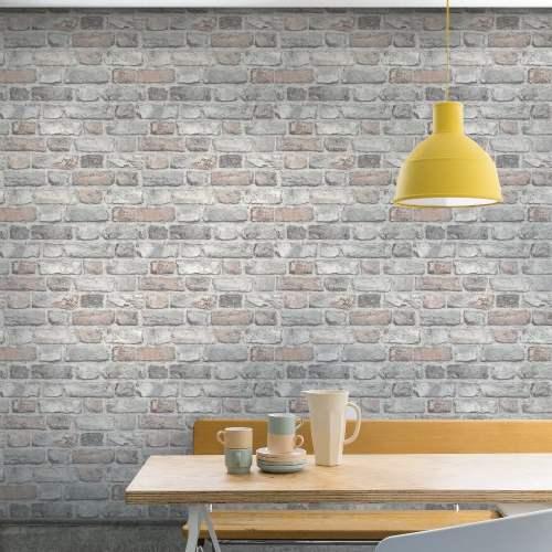 Medium Of Faux Brick Wallpaper