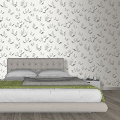Muriva Just Like It Butterfly 3D Butterflies Pattern Motif Designer Washable Vinyl Wallpaper ...