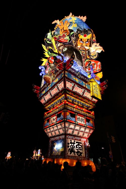 Nebuta float – Nebuta are gigantic lanterns that are designed to look like characters from kabuki dramas, myths and history. There're many Nebuta matsuri Festival in Japan