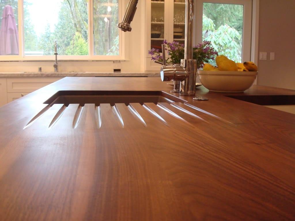 extra options wood countertops wood kitchen countertops Wood drainboard