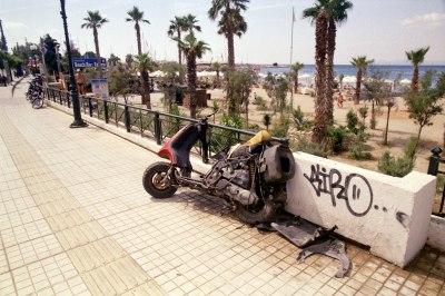 Destroyed Motorbike