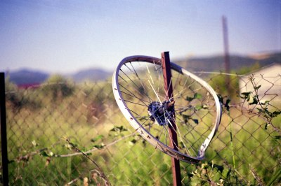 Wheel on a Fence