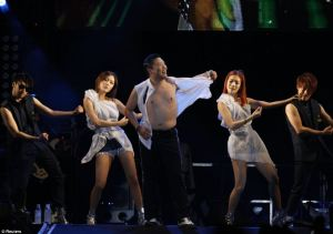 Psy marches to his own drum beat Gangnam Style
