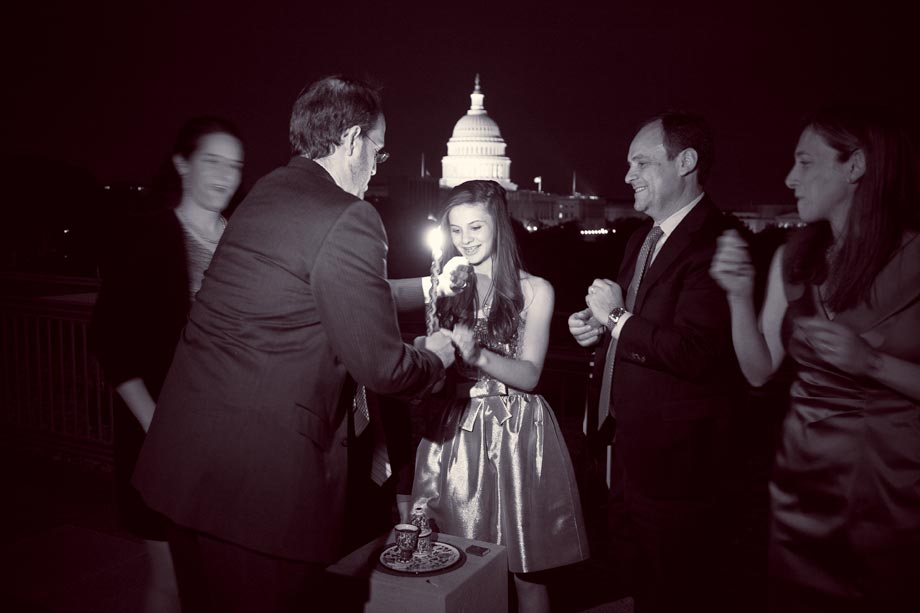 lighting of candles at mitzvah in dc