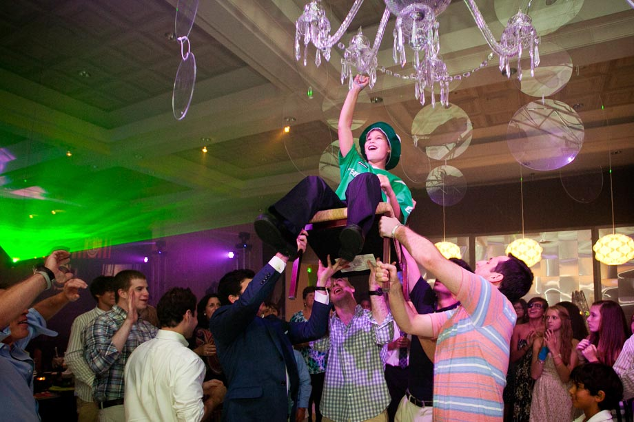 mitzvah boy's chair dance