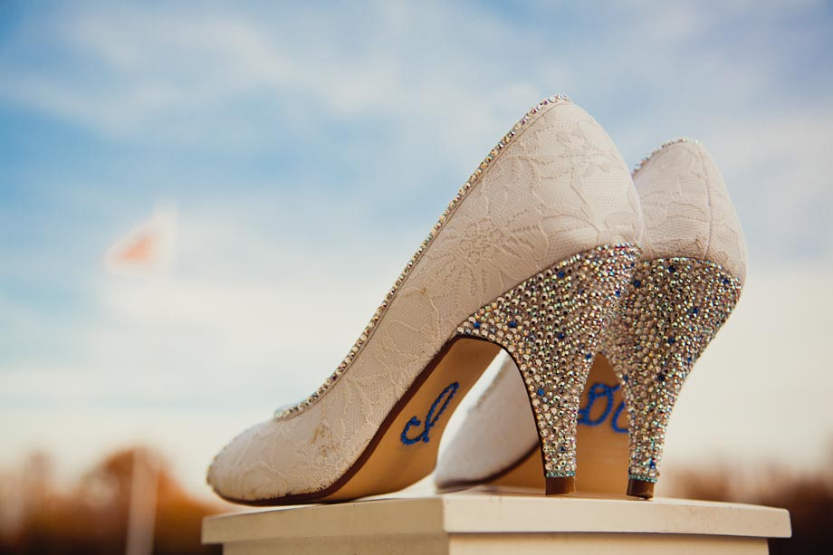 rhinestoned bridal high heels