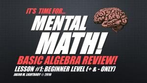 Algebra Slide 1
