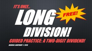 Long Division FREE Sample Title