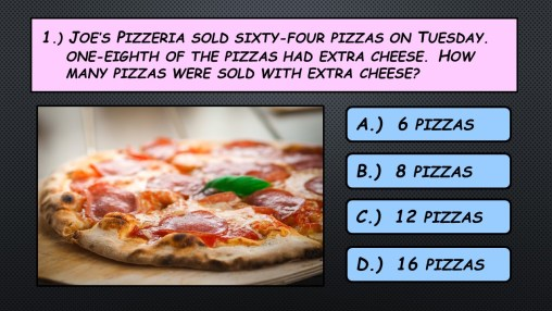 Mental Math Fractions Pizza
