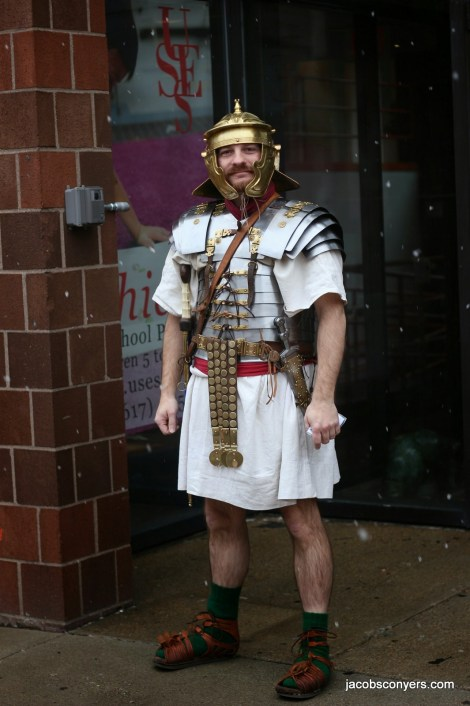Andy Volpe, legionary in snow