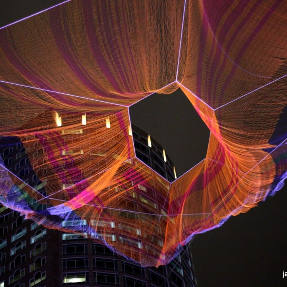 """""""As if it was already here"""" aerial sculpture"""