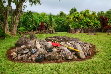Somebody does an immaculate job with upkeep at the heiau