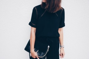 All Black Outfit Topshop Mules 7