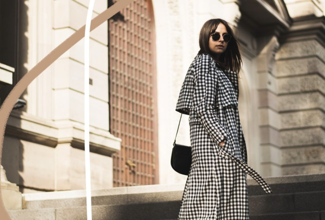 Gingham Topshop Trenchcoat Jacqueline Isabelle Mainz