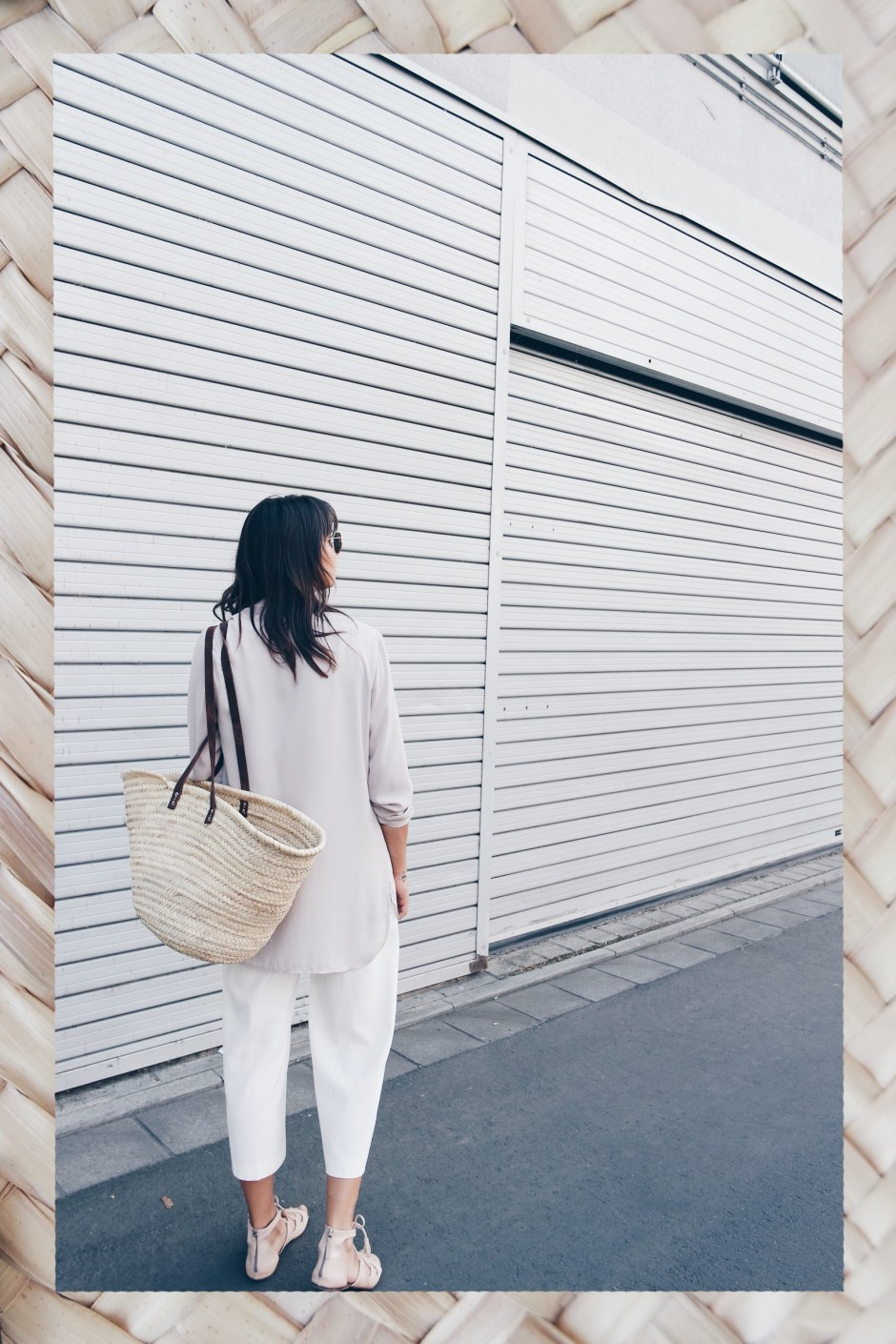 Straw Bag Strohtasche Jacqueline Isabelle Mainz Outfit