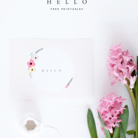 Hello Free Printables from Oh So Pretty