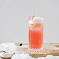 Raspberry Rose Fizz Cocktail