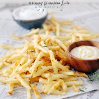 Rosemary Parmesan Fries with Truffle Aioli