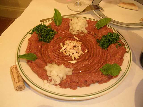 Kibbeh Nayyeh (raw kibbeh) is banned in restaurants across Windsor-Essex county.