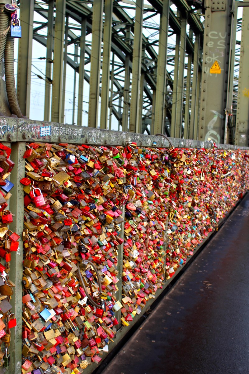 Love Lock Bridge in Cologne, Germany