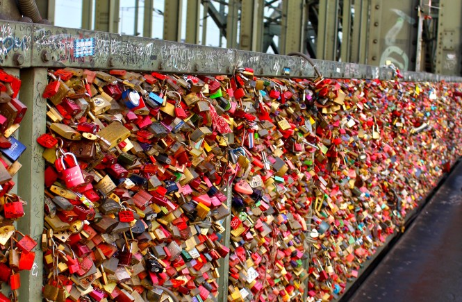 Love Lock Bridge in Cologne Germany is one of the #1 Tourist attractions in Cologne!