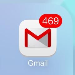 Gmailのアプリが3.0にアップデートしていたので、バージョンアップすると通知の数字が半端なく増えて焦った。