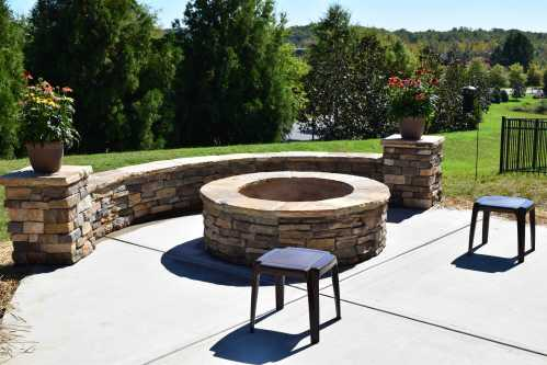 Medium Of Stone Fire Pit