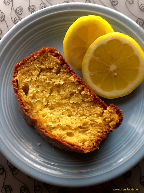 Glazed Lemon Cake Made From Scratch