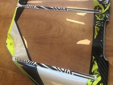 Changement de panneau monofilm north windsurf réparé - voilerie j'ai cassé ma voile brest